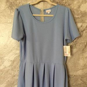 LULAROE 3XL Amelia NWT Light Blue Dress